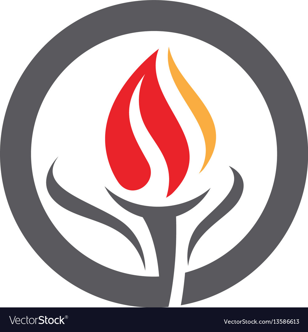 fire flame logo template royalty free vector image