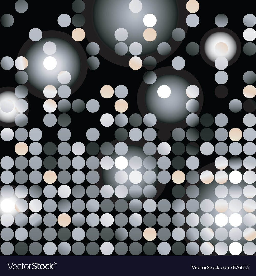 Glowing dots vector image