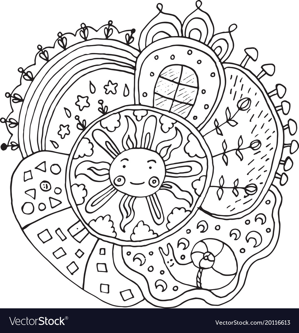 Easy Mandala Coloring Page - GetColoringPages.com | 1080x969