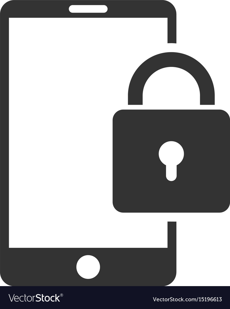 Lock smartphone flat icon