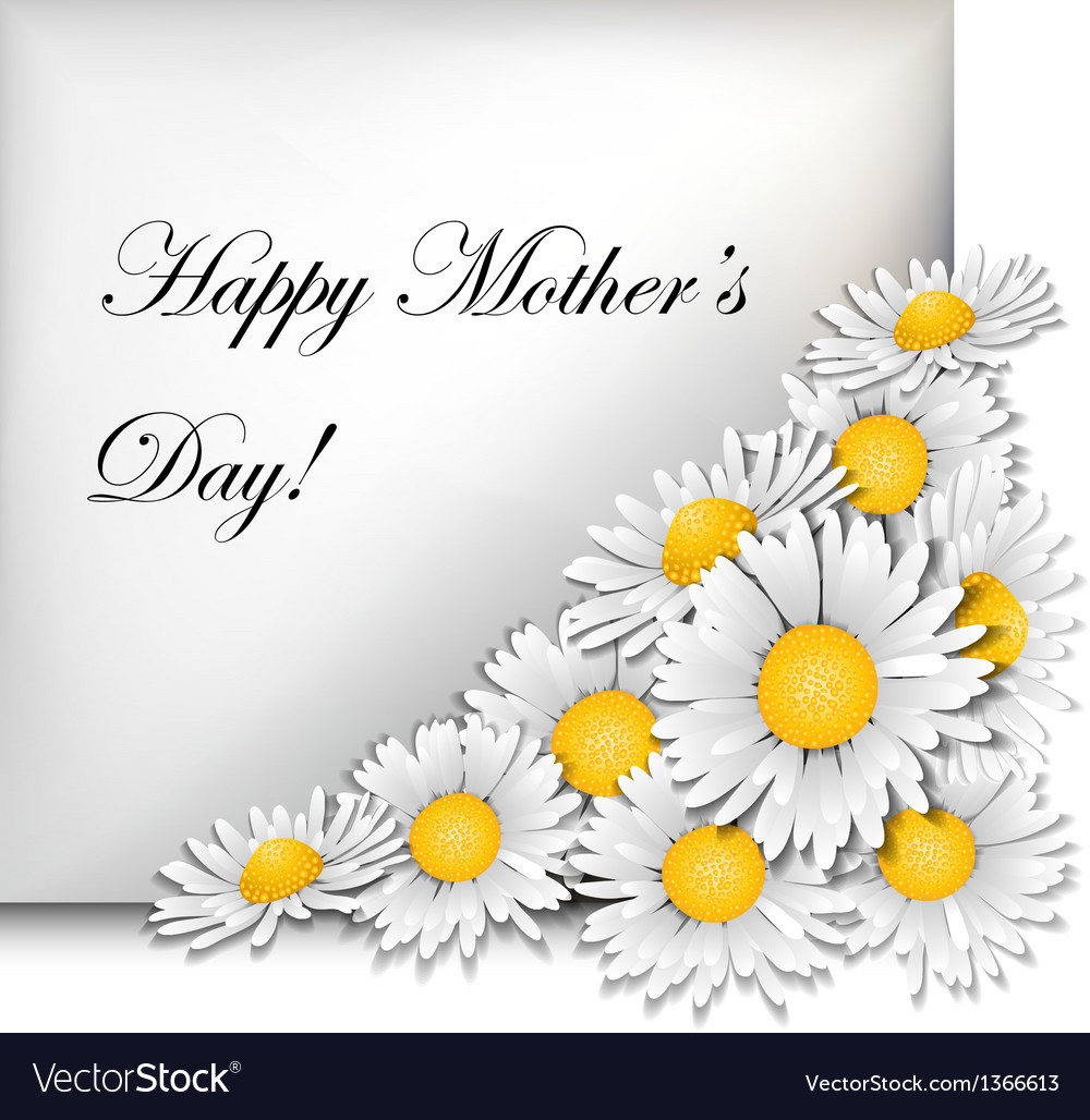 Mothers day card with daisies