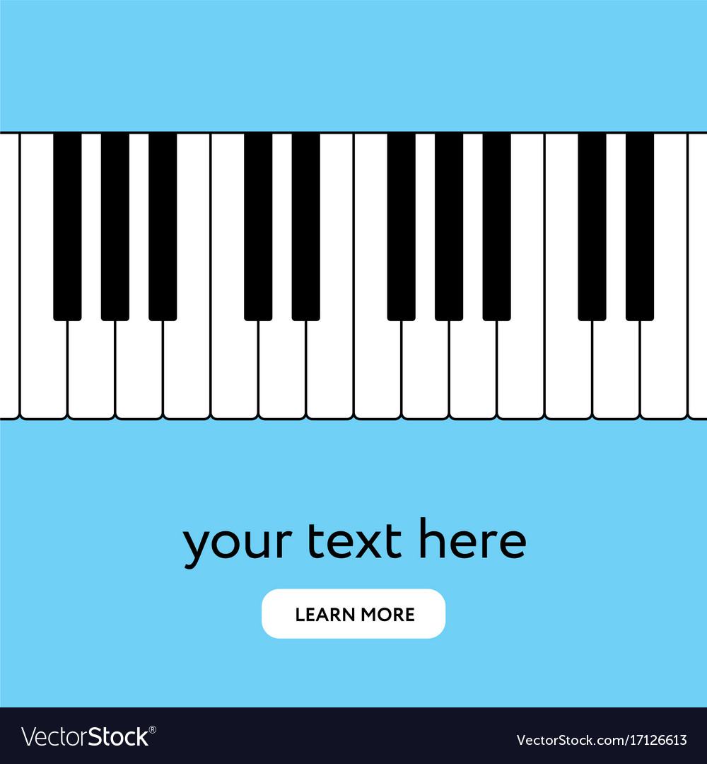 Piano Keyboard Internet Banner Place Your Text Vector Image