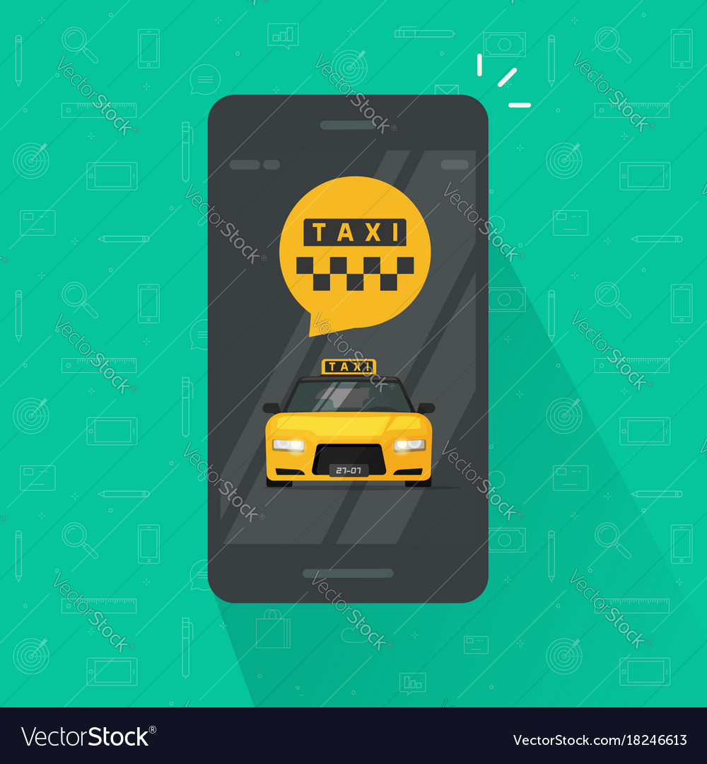 Taxi service on mobile phone