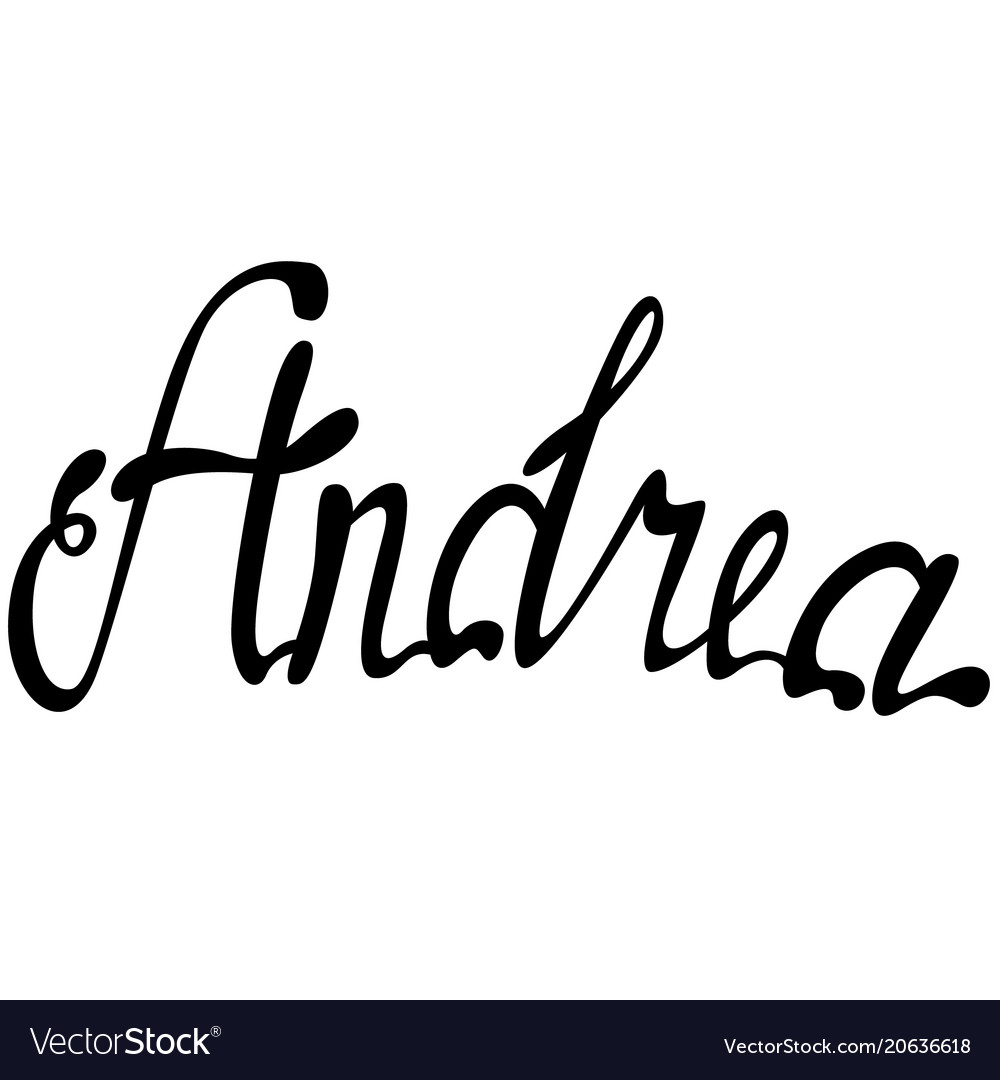 Andrea name lettering