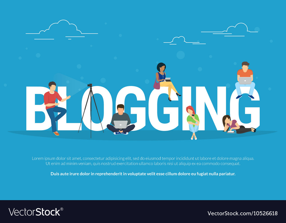Blogging concept of young people