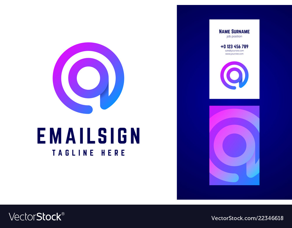 Email sign logo and business card template vector image cheaphphosting Gallery