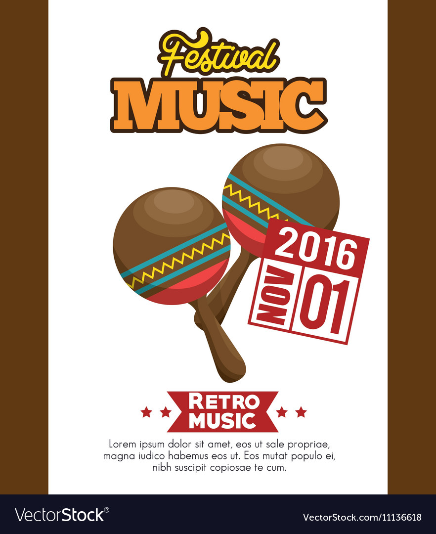 Maracas icon festival music poster graphic
