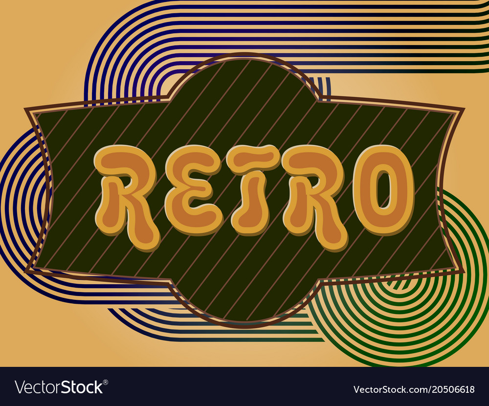 Retro background with a place for your text