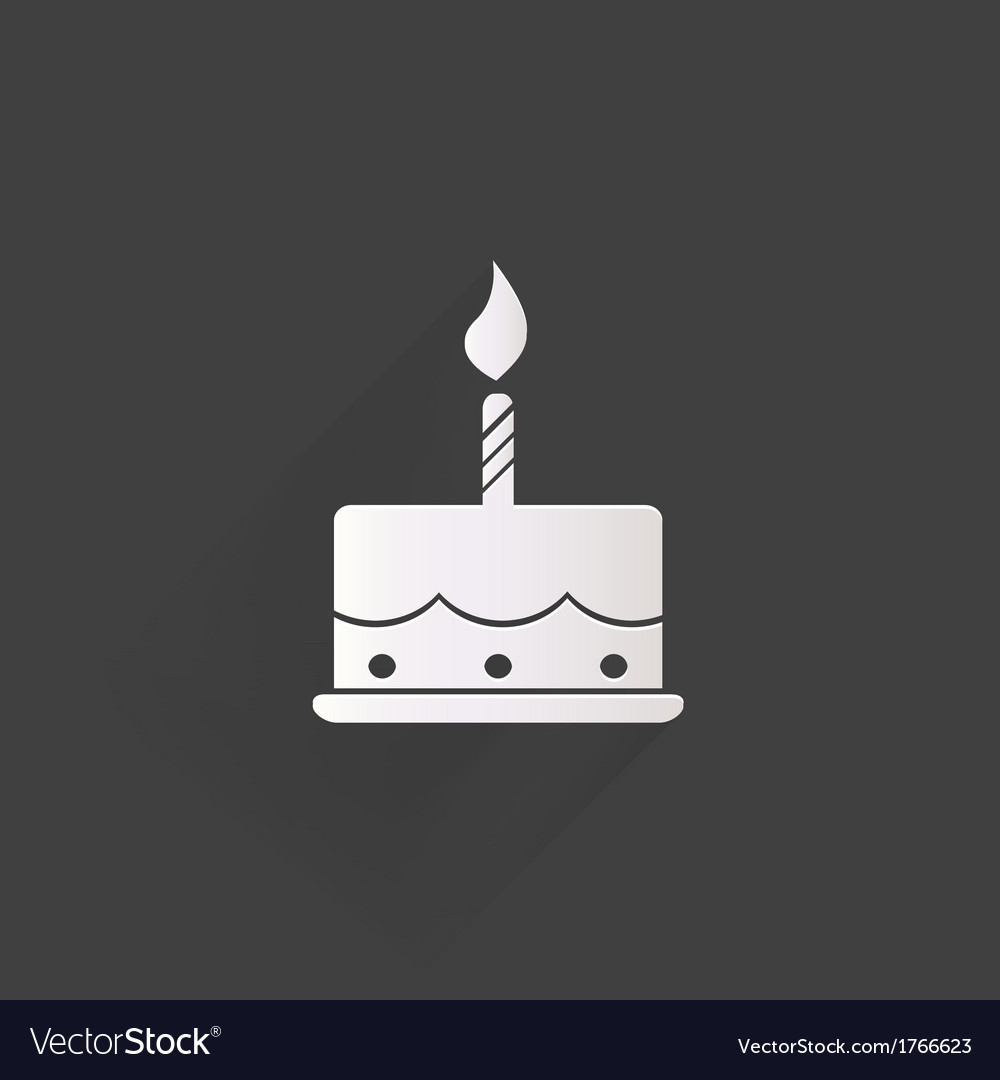 Birthday cake web icon Royalty Free Vector Image