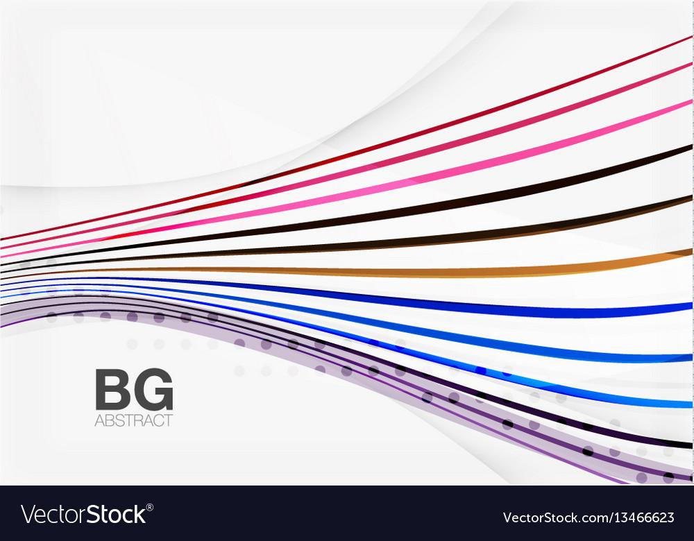 Color stripes wave lines modern geometric