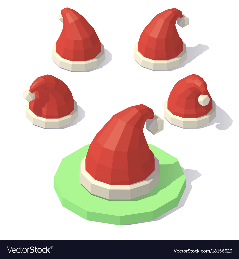 Christmas Hat Vector Png.Low Poly Christmas Hat