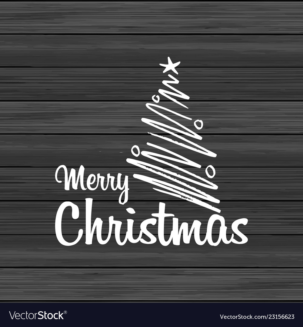 Merry christmas wood background with creative