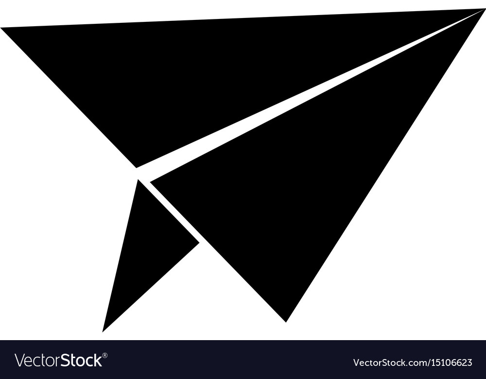 Paper airplane the black color icon