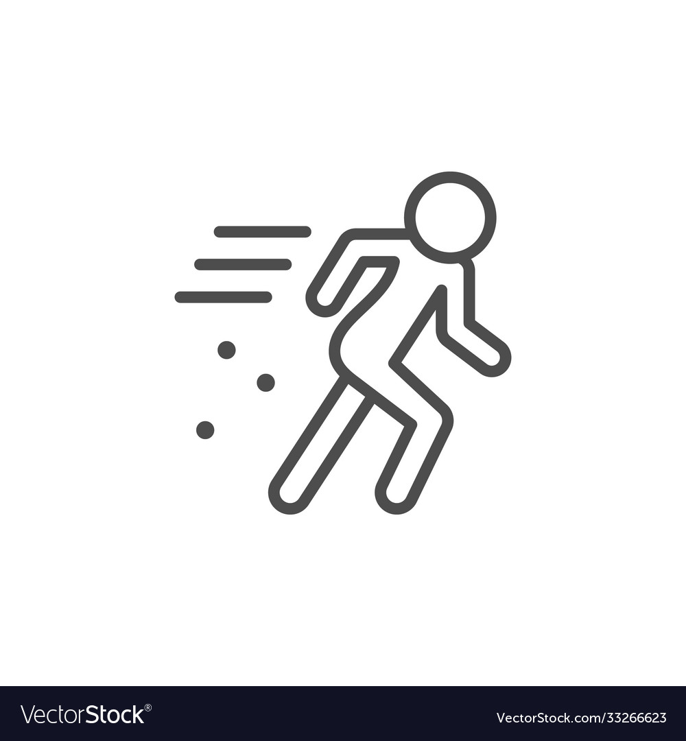 Person in motion line outline icon