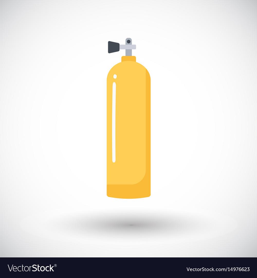 Scuba tank flat icon vector image