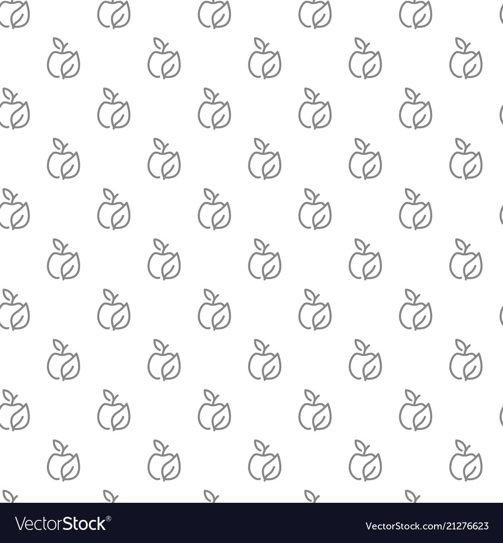 Simple eco apple seamless pattern with various
