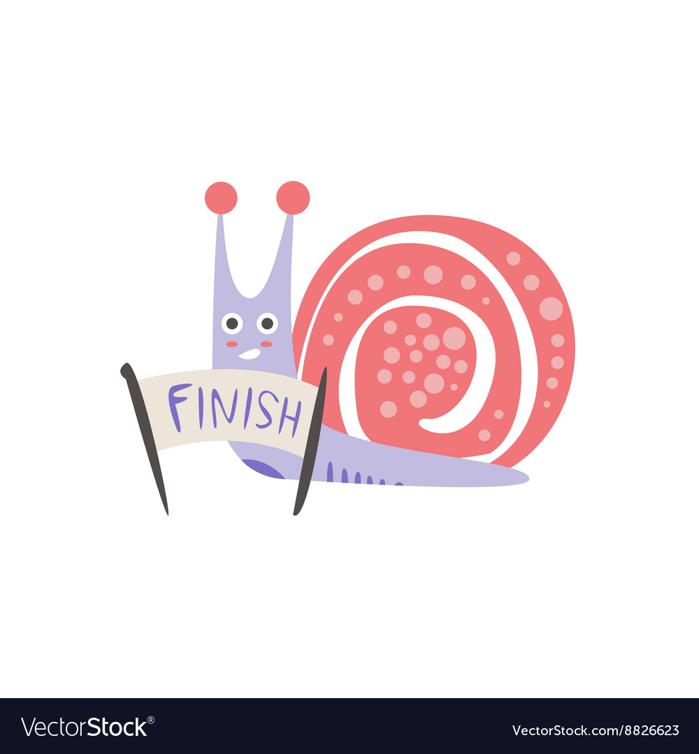 Snail Crossing The Finish Line