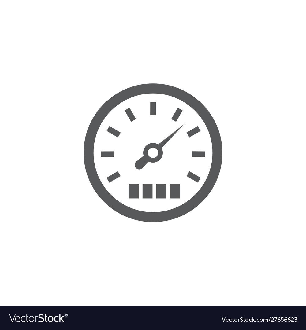 Speedometer icon on white background
