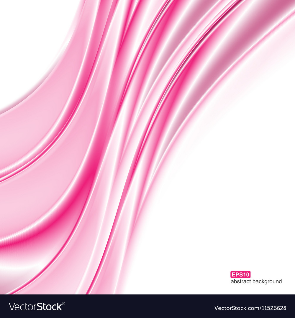 Abstract background Pink waves on white background