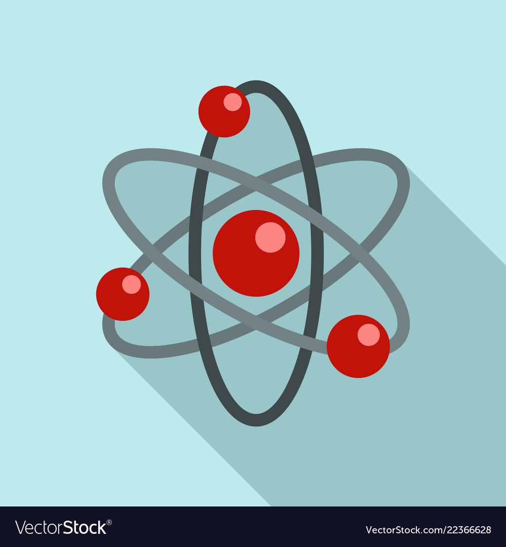 Atom icon flat style