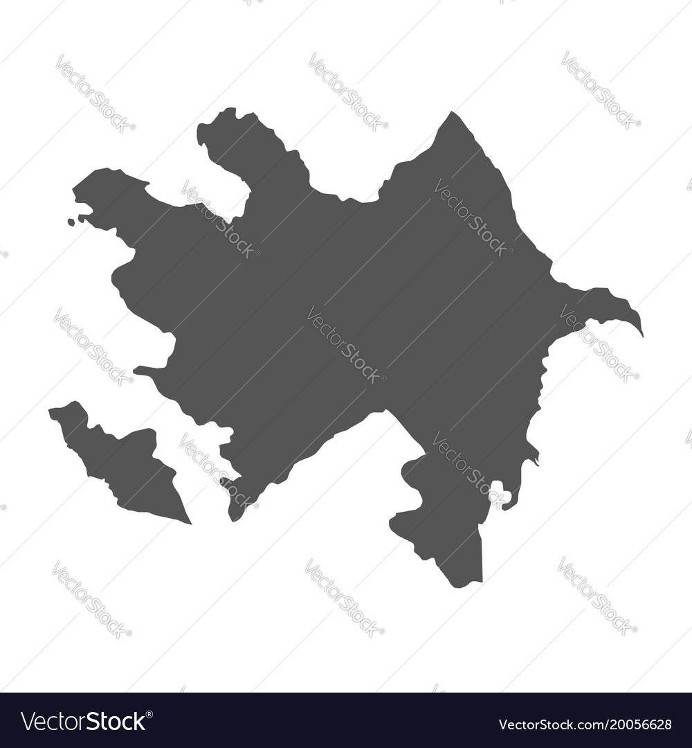 Azerbaijan map black icon on white background vector image gumiabroncs Images