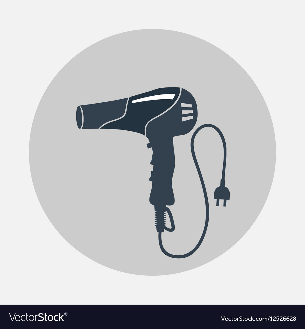 Blow hairdryer with cord and plug Professional vector image