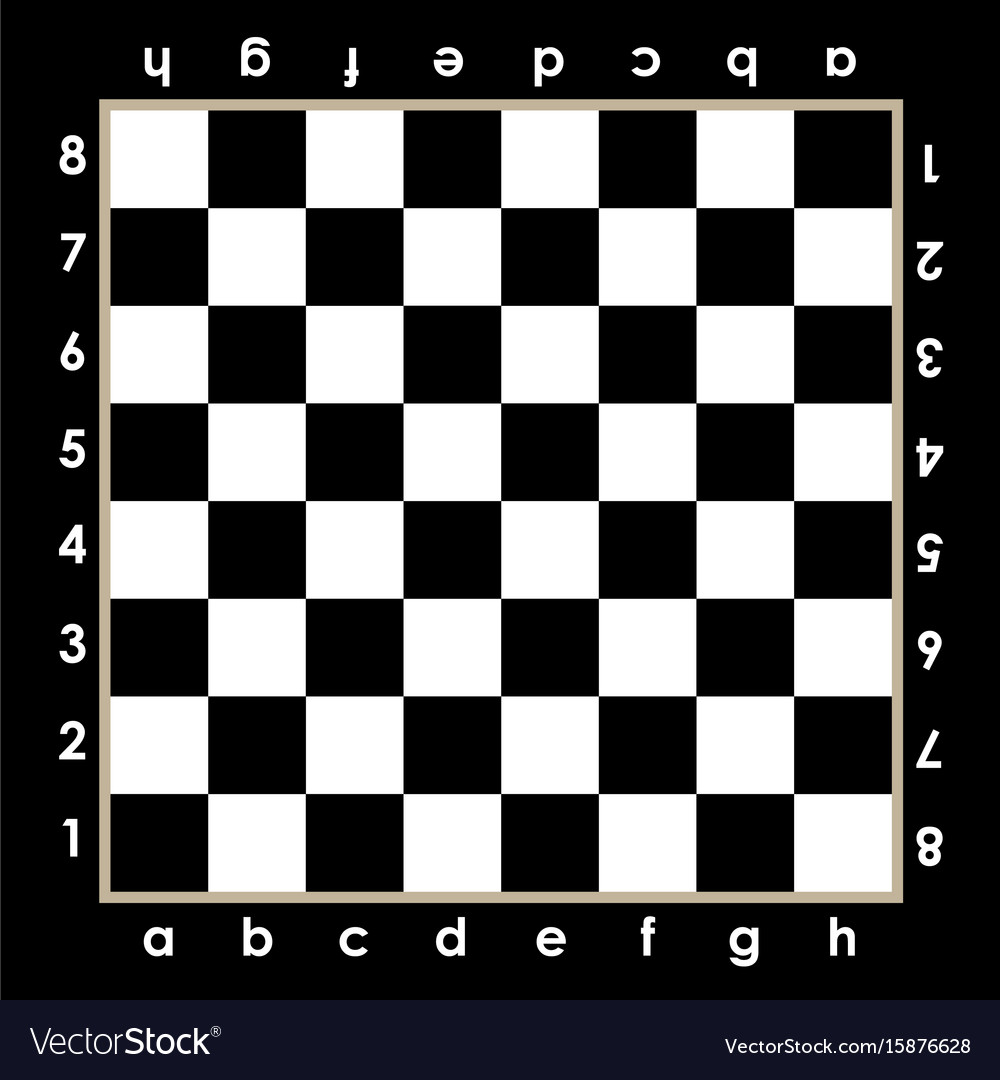 image relating to Printable Chess Pieces known as Chessboard style with algebraic notations vector picture