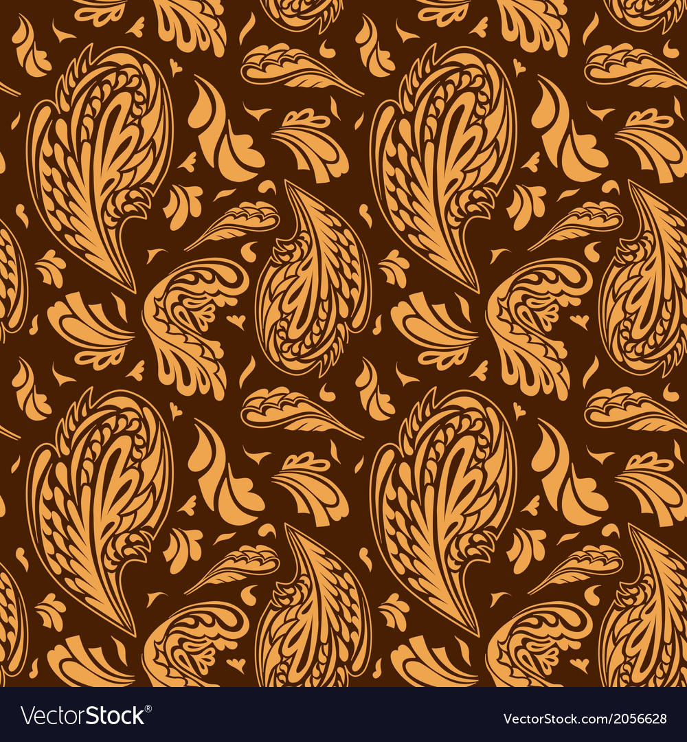 Elegant seamless pattern with floral ornament