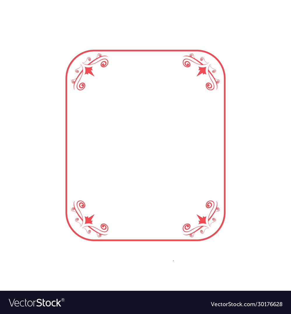 Floral frame graphic design template isolated