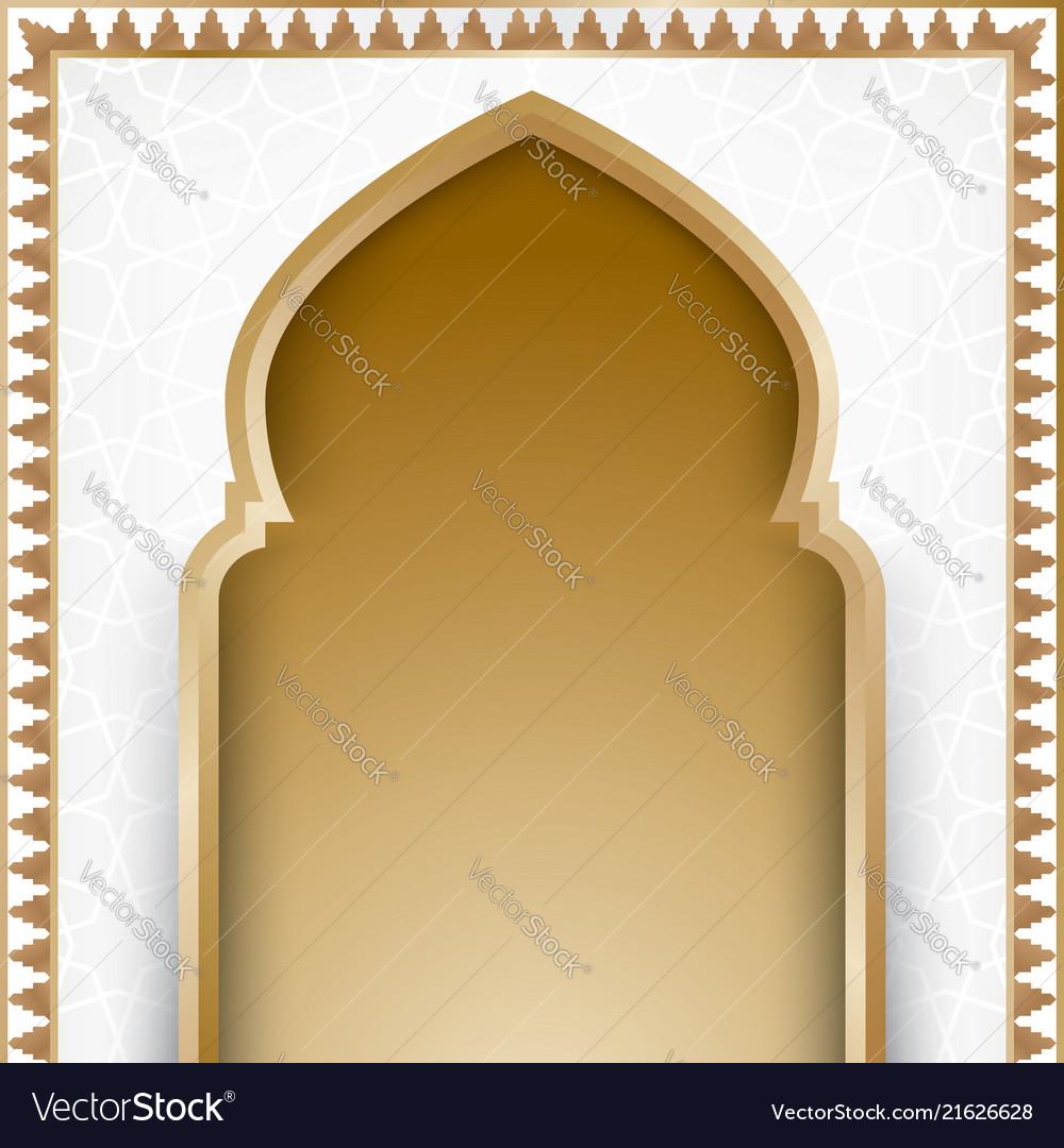 Ramadan kareem with arch door background