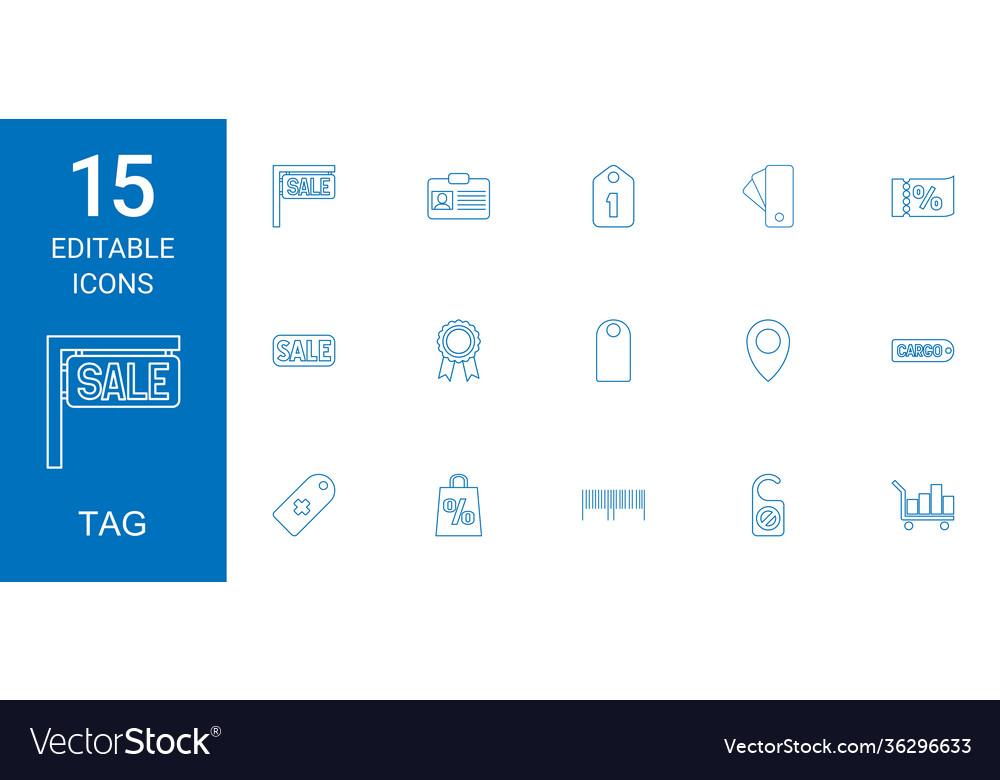 15 tag icons