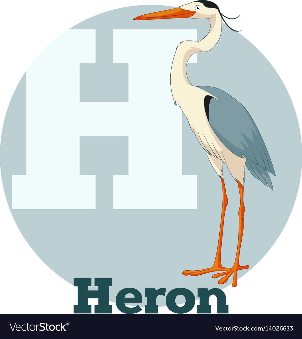 Abc cartoon heron