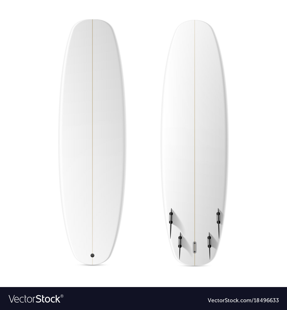 blank surfboard template royalty free vector image