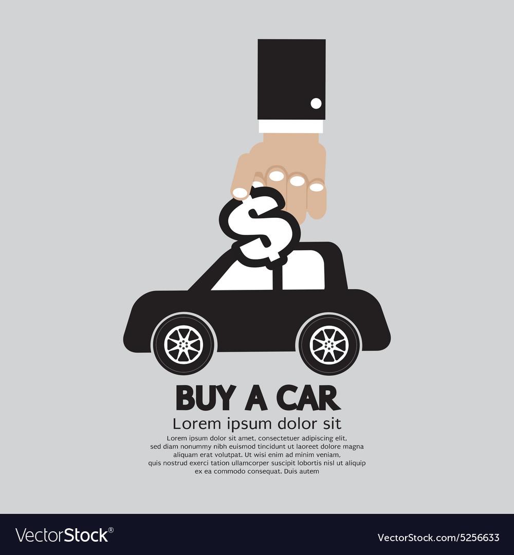 Buy A Car Concept vector image