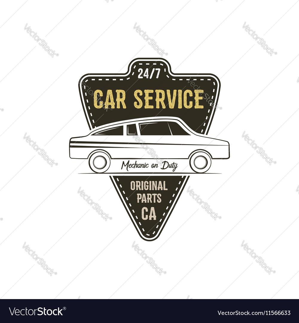Car service label Vintage tee design graphics
