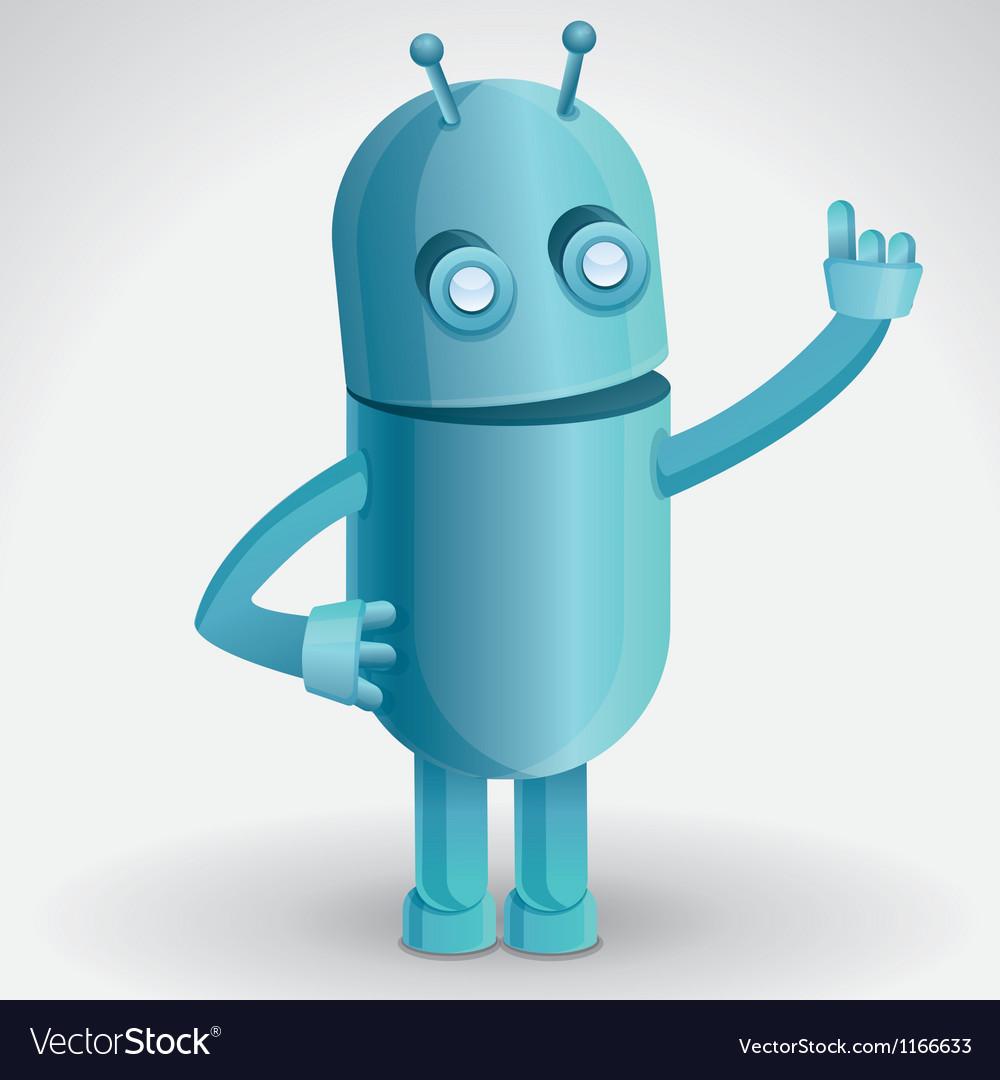 Cartoon character - funny robot