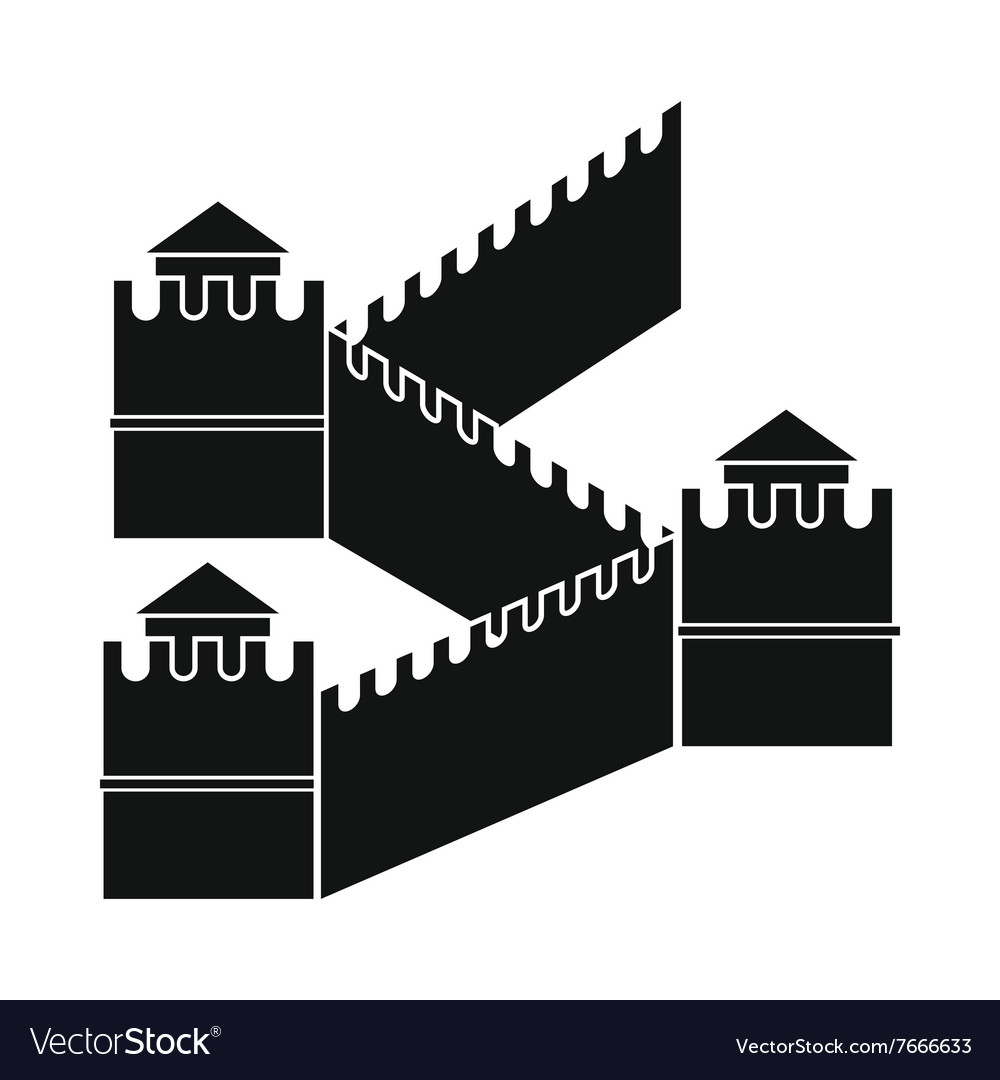 Great Wall of China icon simple style
