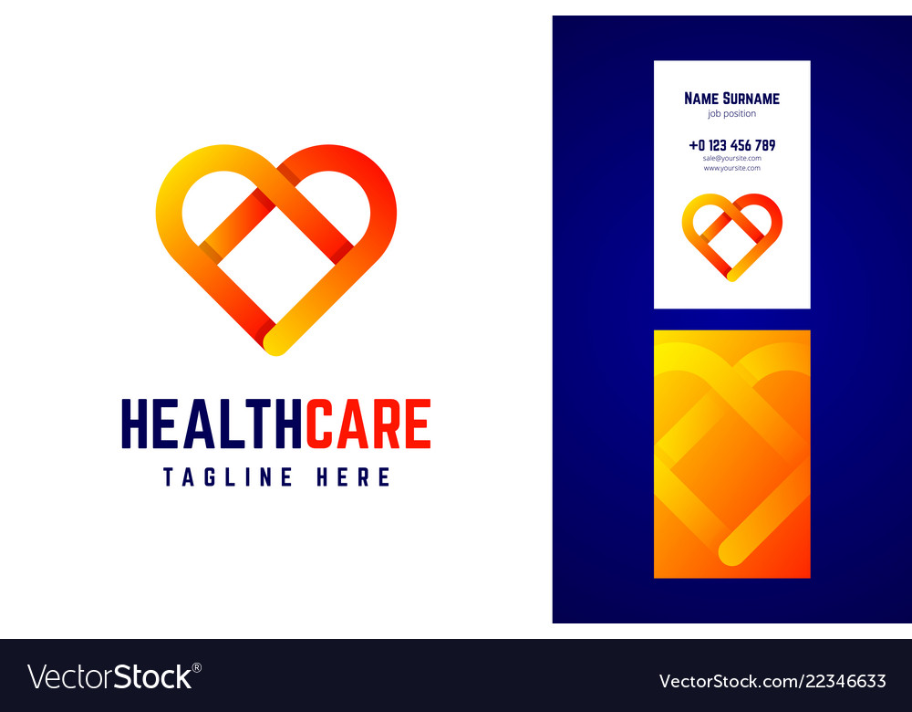 Health care logo and business card template