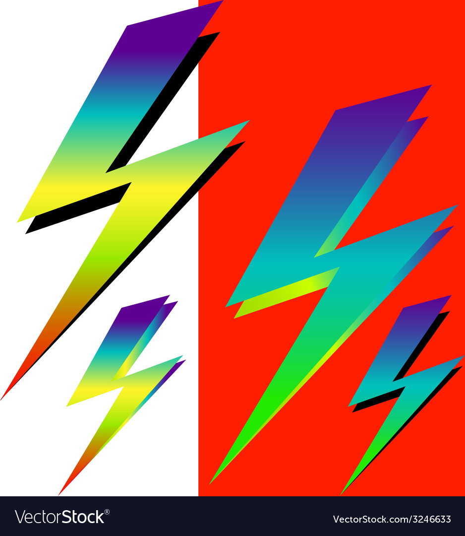 Iridescent sign of lightning