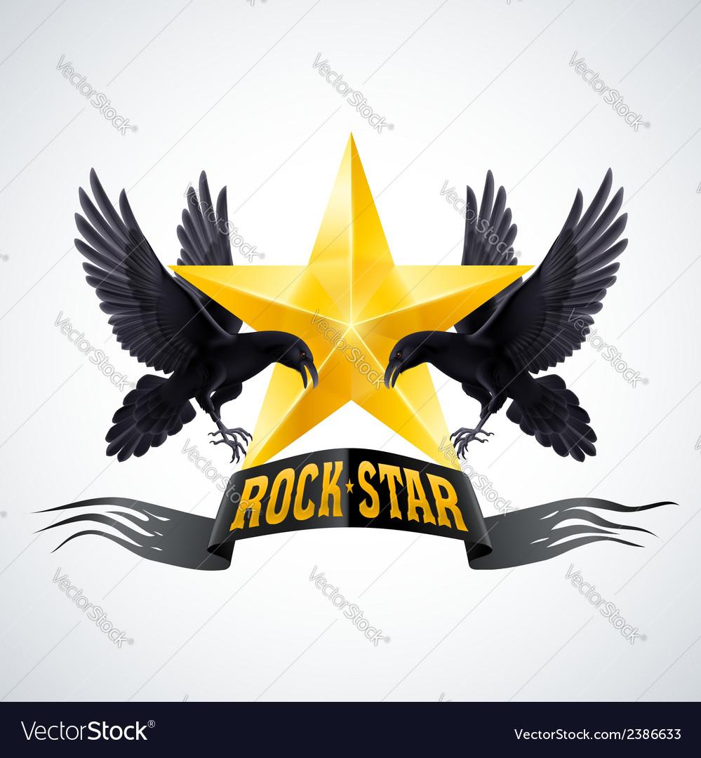 Rock Star Royalty Free Vector Image Vectorstock
