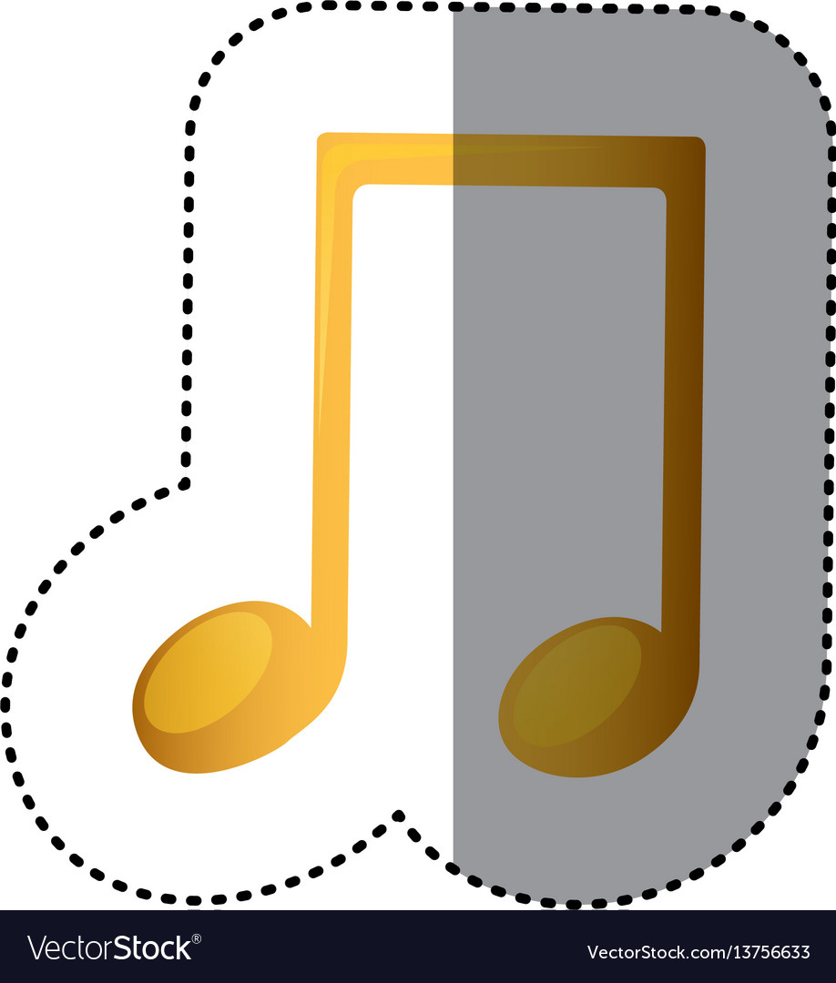 Sign music note icon vector image