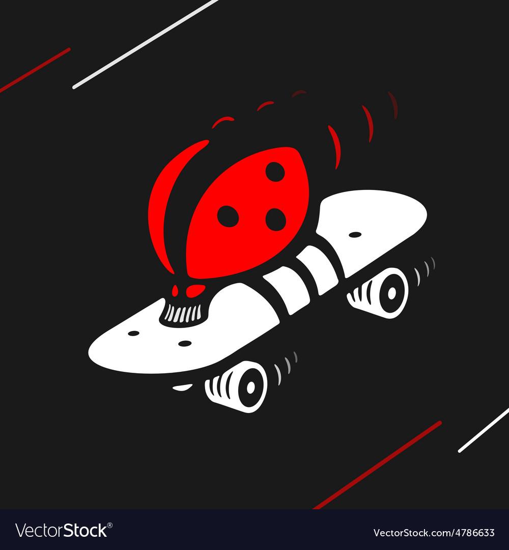 Symbol ladybug speed skating