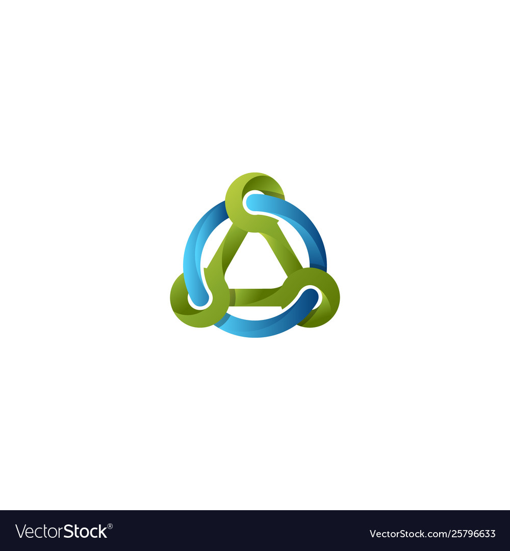 Triangle and circle abstract logo