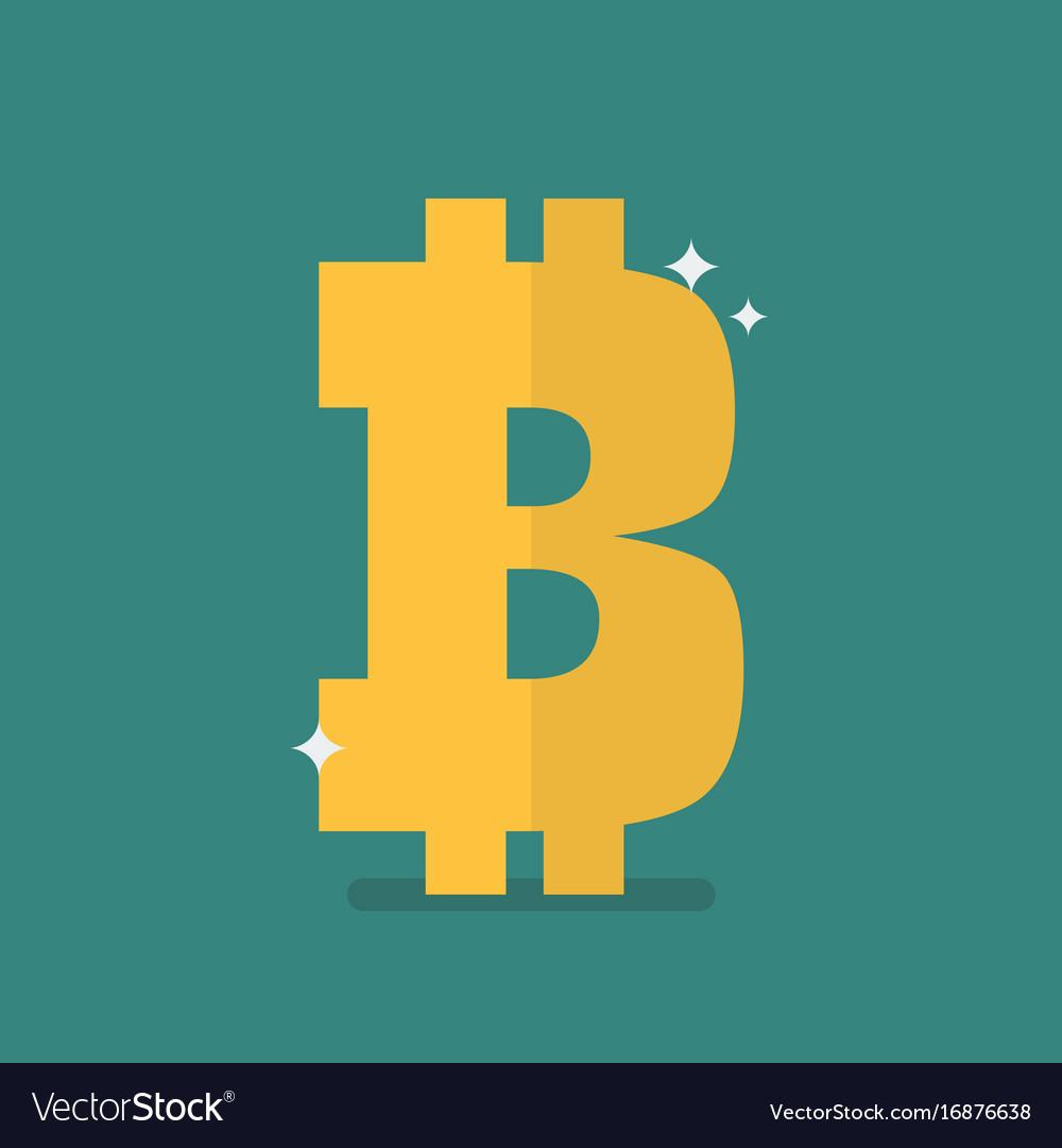 Bitcoin icon sign
