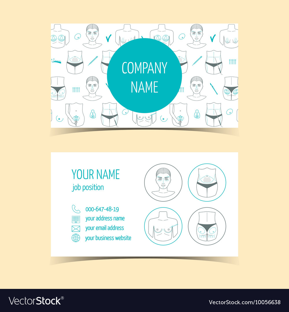 Business cards for plastic surgery clinic vector image colourmoves
