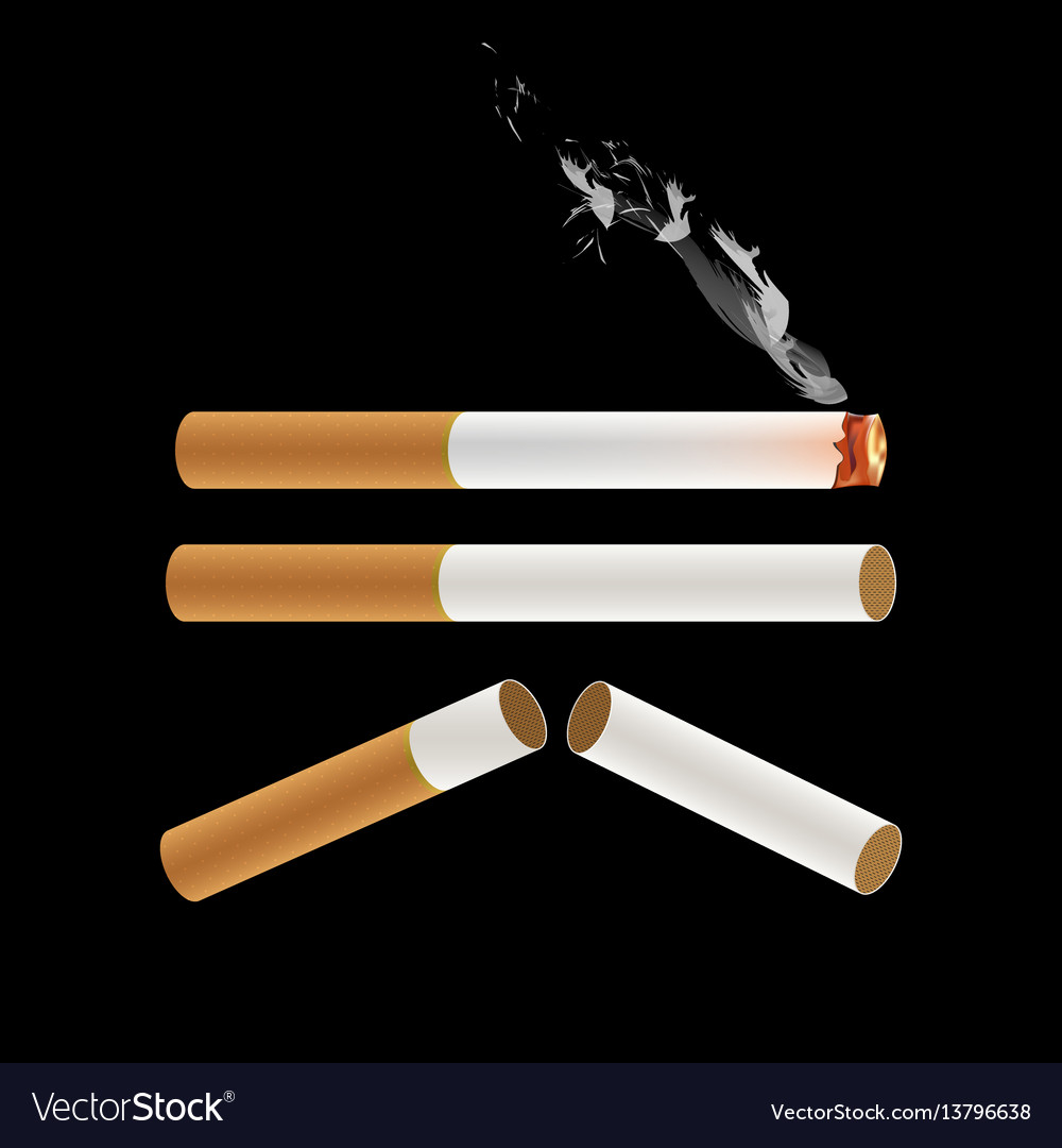 Cigarette burning with smoke