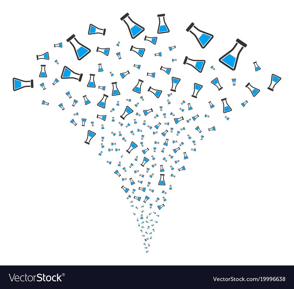 Flask fountain stream vector image on VectorStock