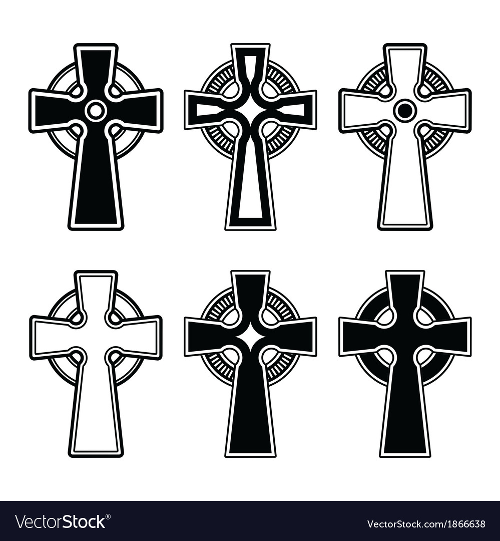 Irish Scottish Celtic Cross Sign Royalty Free Vector Image
