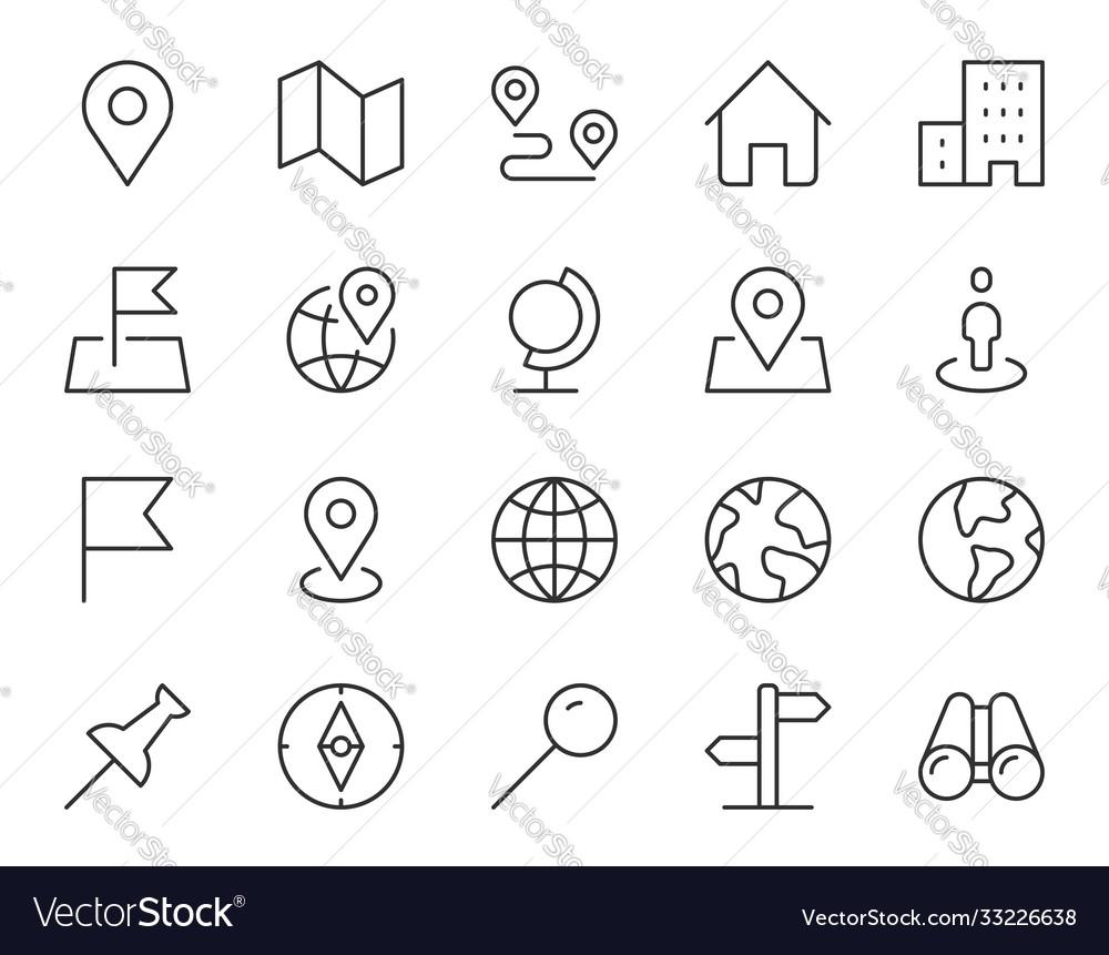 Location line icon minimal
