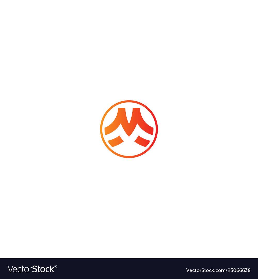 M initial round company logo